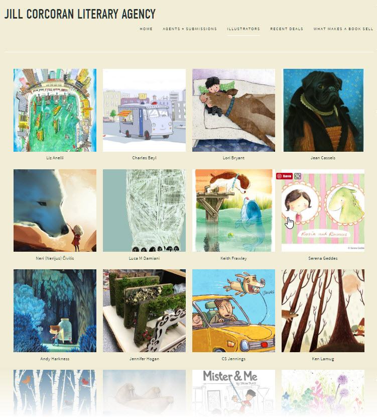 Some of the author-illustrators represented by Jill Corcoran Lliterary.