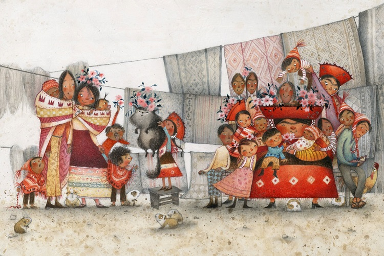 From La Princesa and the Pea by Juana Martinez-Neal